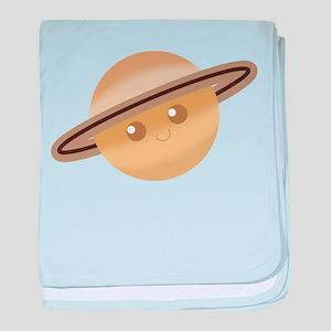 Silly Saturn baby blanket