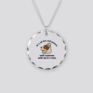 It's All Fun And Games Necklace Circle Charm