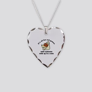It's All Fun And Games Necklace Heart Charm