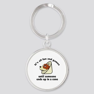 It's All Fun And Games Round Keychain