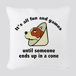 It's All Fun And Games Woven Throw Pillow