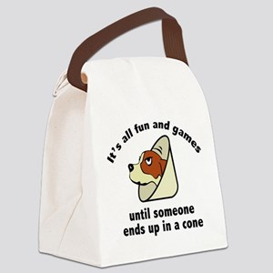 It's All Fun And Games Canvas Lunch Bag