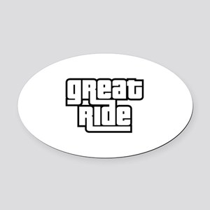 Great Ride Oval Car Magnet