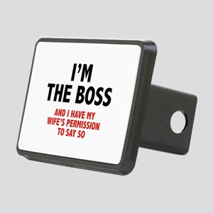 I'm The Boss Rectangular Hitch Cover