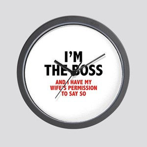 I'm The Boss Wall Clock