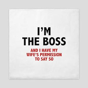 I'm The Boss Queen Duvet
