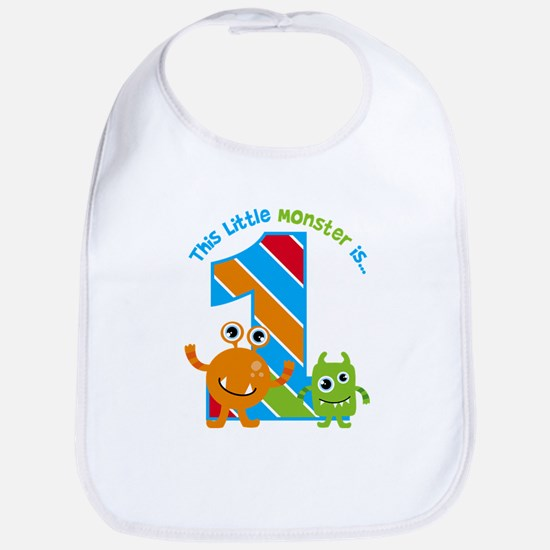 Little Monster 1st Birthday Baby Bib