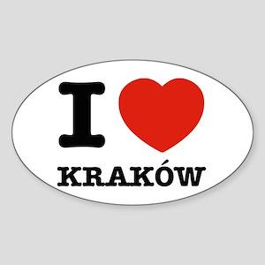 I love my krakow Sticker (Oval)