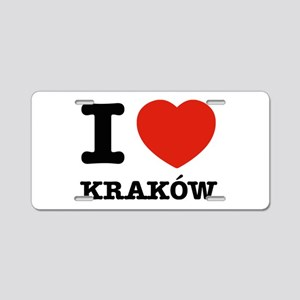 I love my krakow Aluminum License Plate