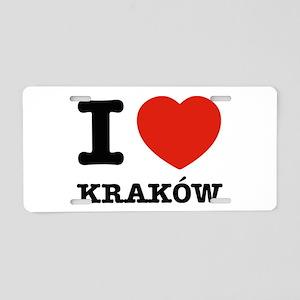 I love my krakow Aluminum License Plate