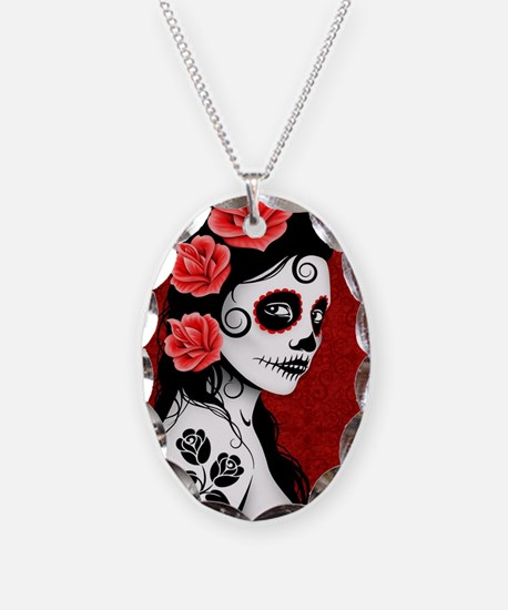 Day of the Dead Girl - Deep Re Necklace