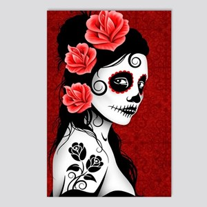 Day of the Dead Girl - De Postcards (Package of 8)
