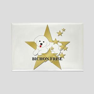 Bichon Frise Stars Rectangle Magnet