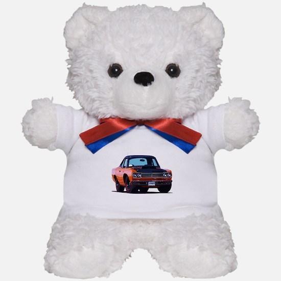 BabyAmericanMuscleCar_69_RoadR_Orange Teddy Bear