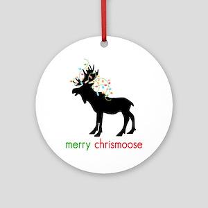 Merry Chrismoose Ornament (Round)