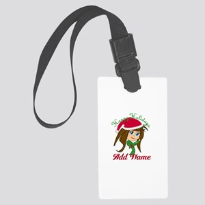 Martial Arts Holiday Girl Luggage Tag