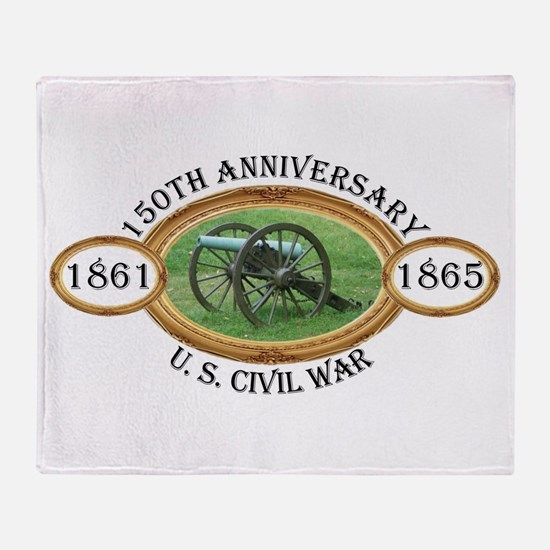 150th Anniversary - U.S. Civil War Throw Blanket