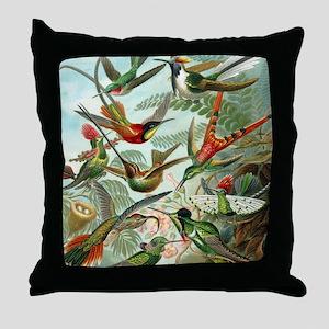 Beautiful Hummingbirds Art Throw Pillow