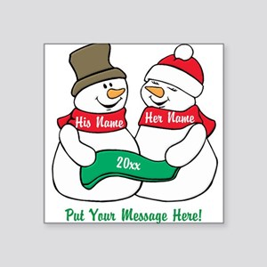 Personalize It Christmas Sticker