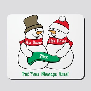 Personalize It Christmas Mousepad