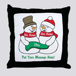 Personalize It Christmas Throw Pillow