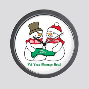 Personalize It Christmas Wall Clock