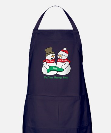 Personalize It Christmas Apron (dark)