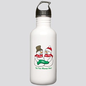 Personalize It Christmas Water Bottle