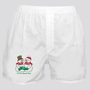 Personalize It Christmas Boxer Shorts