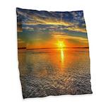 Beautiful Sunset Scenic View Photography Burlap Th