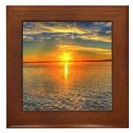 Beautiful Sunset Scenic View Photography Framed Ti