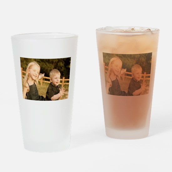 Em&Abe Drinking Glass