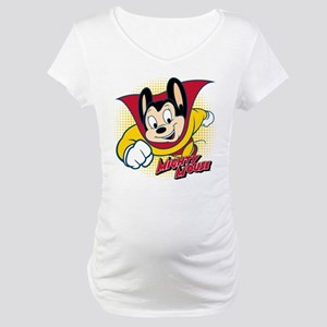 Mighty Mouse Halftone 2 Maternity T-Shirt