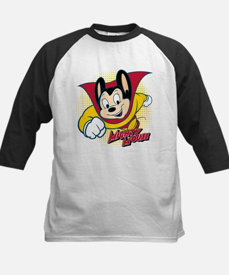 Mighty Mouse Halftone 2 Kids Baseball Jersey