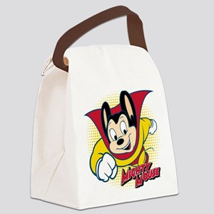 Mighty Mouse Halftone 2 Canvas Lunch Bag