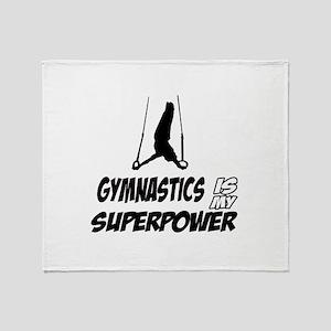 Gymnastics is my Superpower Throw Blanket