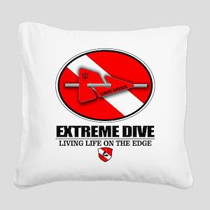 Extreme Dive (Line Marker) Square Canvas Pillow
