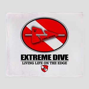 Extreme Dive (Line Marker) Throw Blanket
