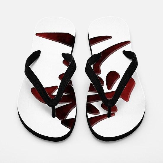 Japanese Kanji - Love - Script Style Sy Flip Flops