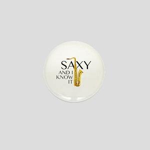 Saxy And I Know It Mini Button