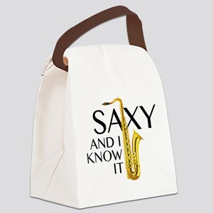 Saxy And I Know It Canvas Lunch Bag