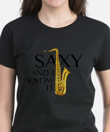 Saxy And I Know It Women's Dark T-Shirt
