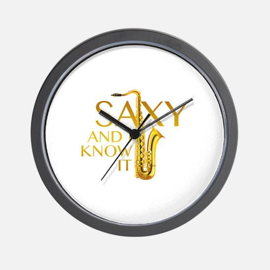 Saxy And I Know It Wall Clock