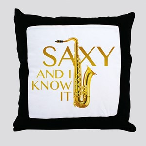 Saxy And I Know It Throw Pillow