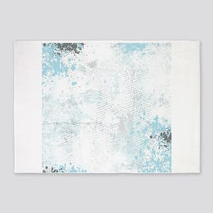 Blue grunge - sharp edge 5'x7'Area Rug