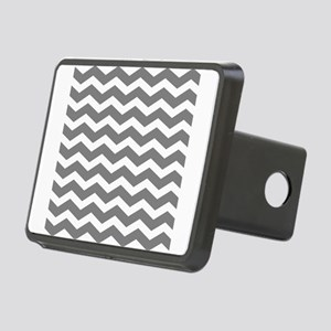 Charcoal Grey Chevron Rectangular Hitch Cover