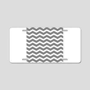 Charcoal Grey Chevron Aluminum License Plate