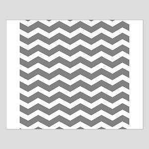 Charcoal Grey Chevron Poster Design