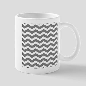 Charcoal Grey Chevron Mugs