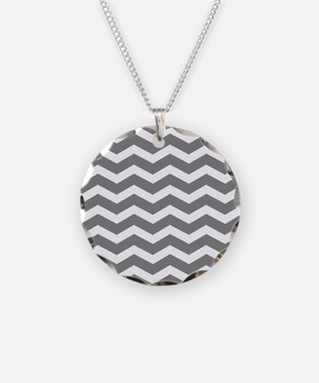Charcoal Grey Chevron Necklace